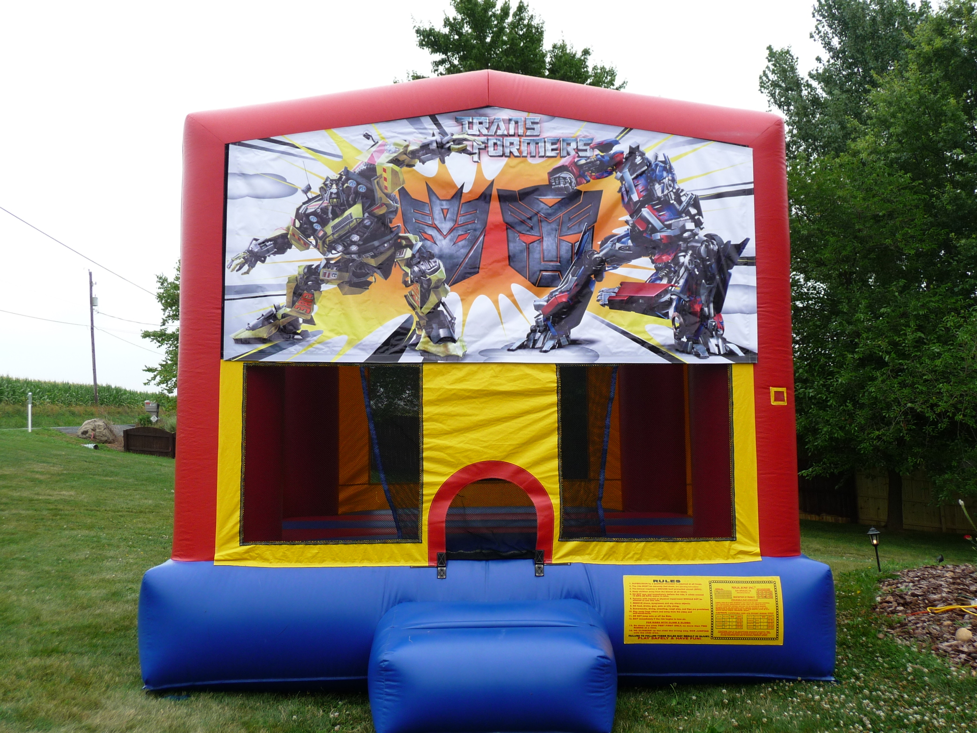 Inflatable Transformers Bounce House Jumper Castle