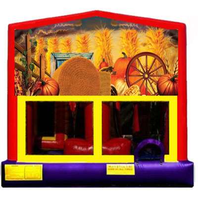 Inflatable Fall Harvest Pumpkin Bounce House