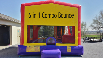 inflatable bounce combo slide castle