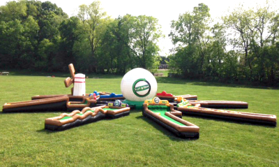 Inflatable 9 Hole Mini Golf Party Rental Game Rentals Lancaster Pa