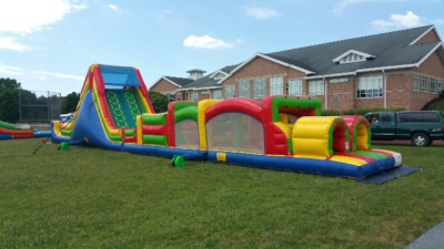 Inflatable Extreme Mega  Obstacle Course Rentals Lancaster Pa