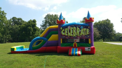 inflatable combo bounce slide castle