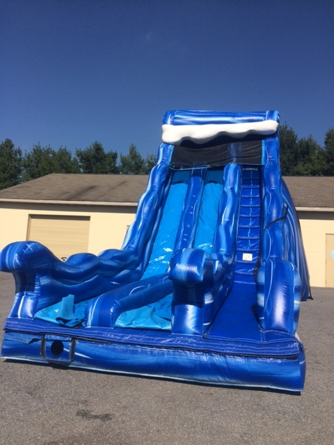 20' Dual Lane( Dry) Wave Slide