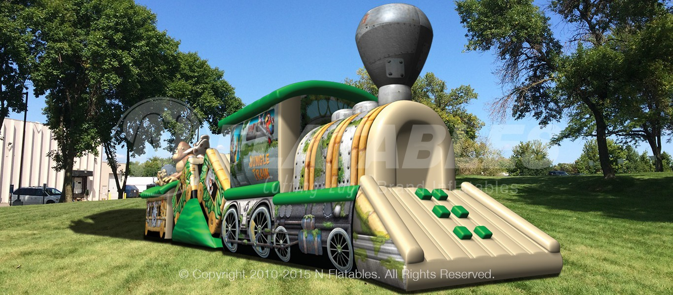 Inflatable Jungle Train Bounce Maze Slide Rental Lancaster Pa