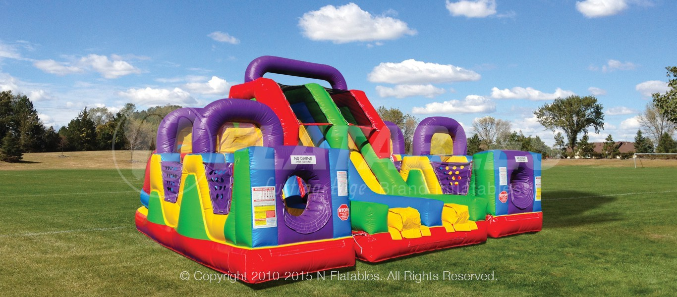Inflatable Obstacle Course Jump Slide Bounce Rentals Lancaster PA