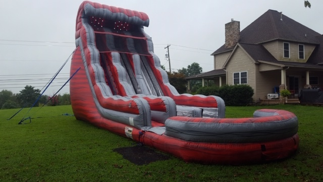 Dual Lane Red Snapper Water Slide