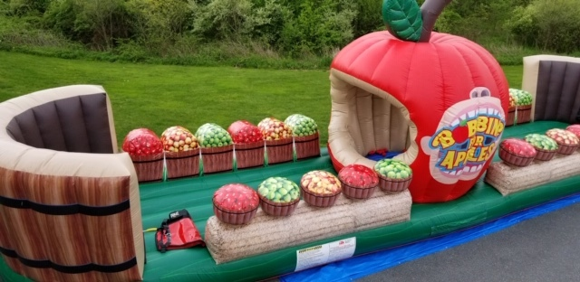 Inflatable Bungee run Bobbing For Apples