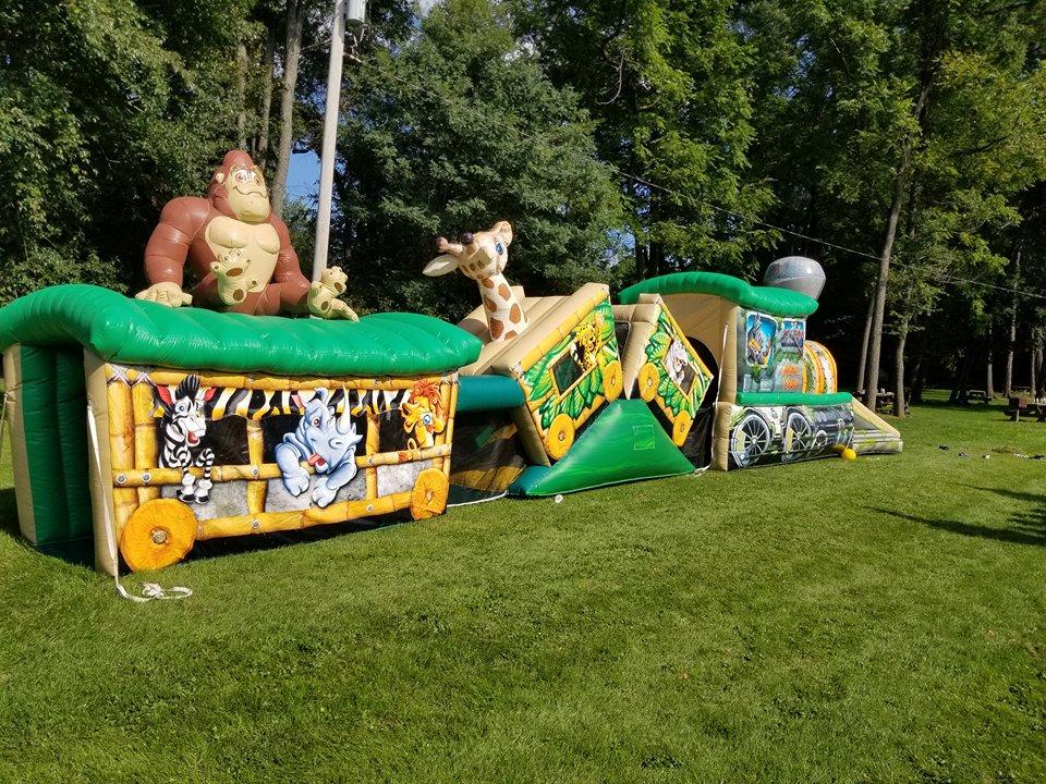 Inflatable Jungle Safari Maze Bounce Slide Rental Lancaster Pa