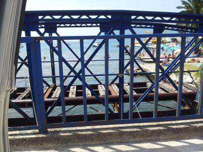 Stari železnički most u Zelenici kod plaže 357