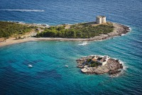 Arza forterss and island with monastery Holly Mother