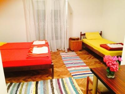 three beds, balcony