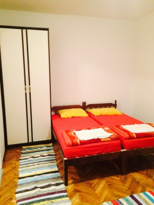 double bed with closet