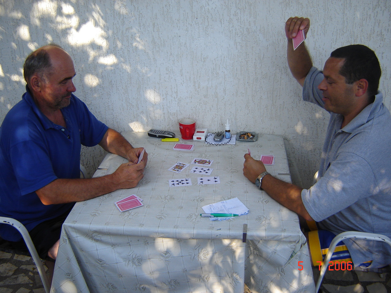playing cards with host