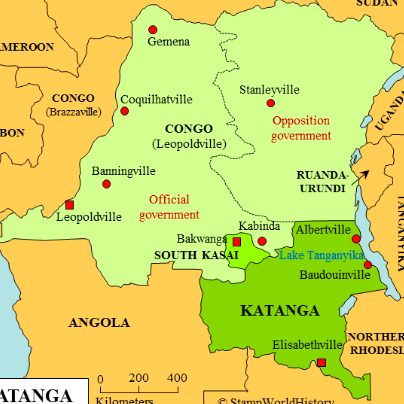 Carte du Congo - Katanga