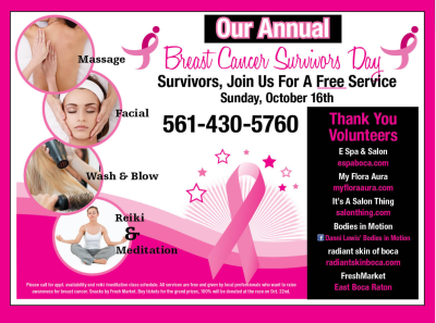 Annual Breast Cancer Survivor Free Service Day