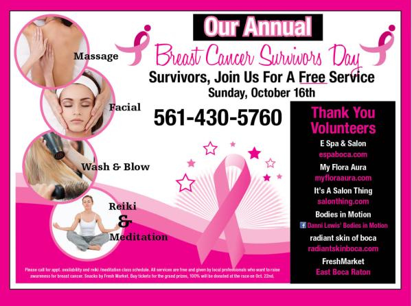 Annual Breast Cancer Survivor Free Service Day