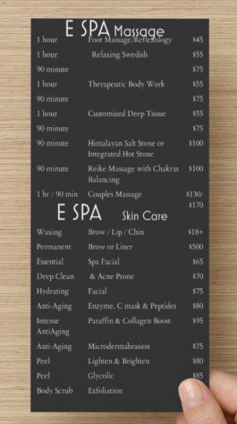 E SPA Prices