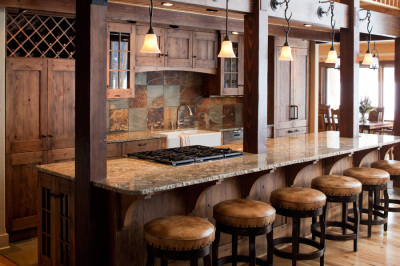 Open Kitchen design of Grand Lake Cabin