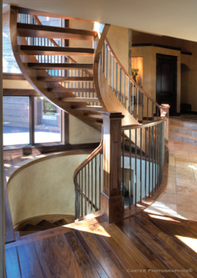 Bright stairway in Winter Park Parade of Homes