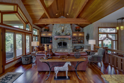 Open, airy design of the Spokane, Washington, Family Room