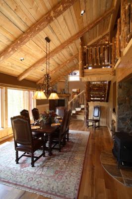 Formal dining room in Remodeled Cabin in Grand Lake, Colorado