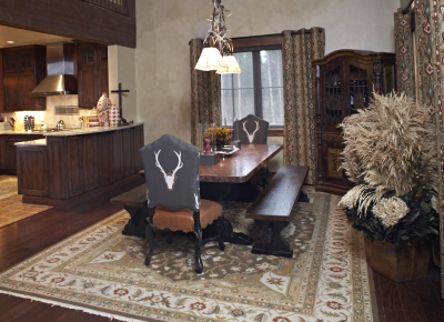Ranch-style dining room in Pole Creek Home, Tabernash, Colorado