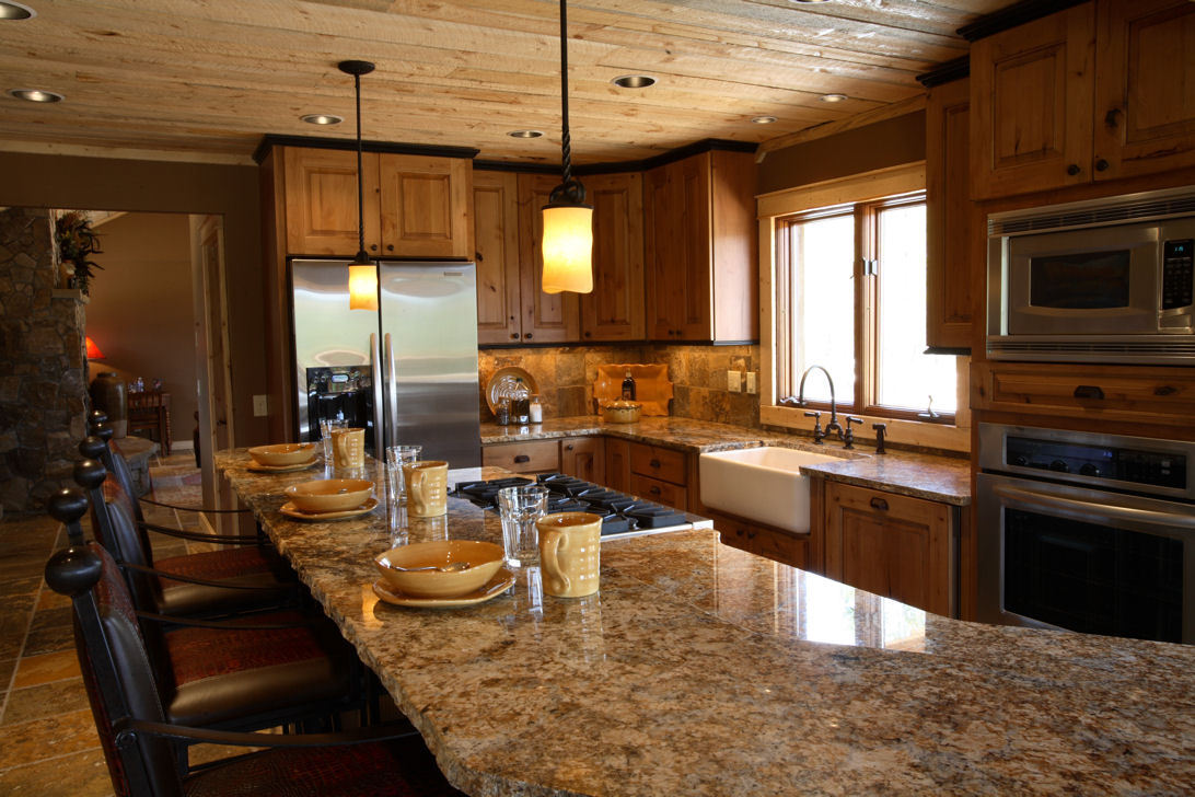 Functional Kitchen Design in remodeled cabin in Grand Lake
