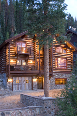 Photo of exterior of remodeled cabin in Grand Lake, Colorado