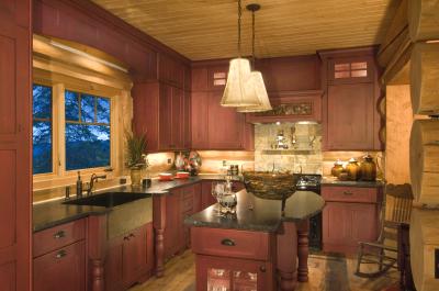 Remodeled kitchen in cabin in Grand Lake, Colorado