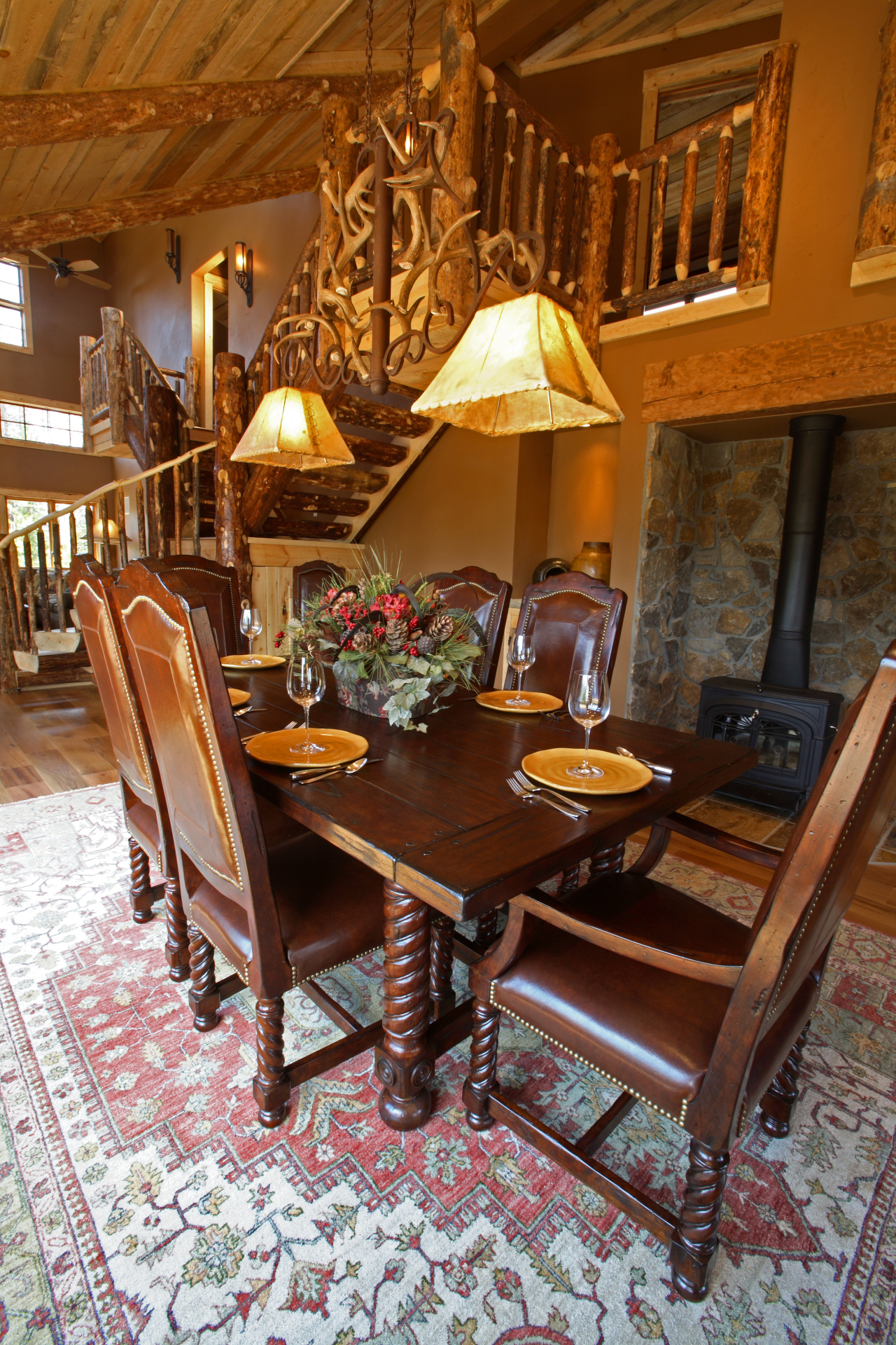 Featured dining room in cabin in Grand Lake, Colorado