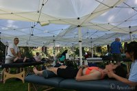 sports massage, high volume event, cycling, obliteride