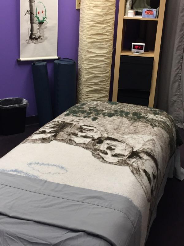 Massage treatment room at Century Massage