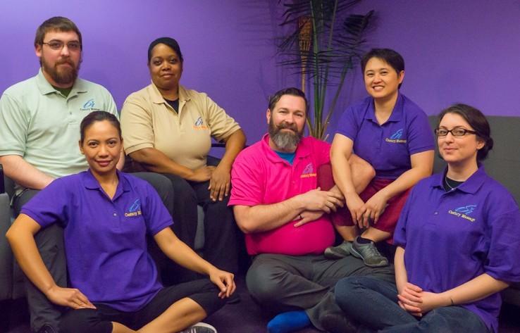Century Massage staff, Lyn Yancha, Marianne Valmonte, Jeremy Hyde, Robert Watts, Gwen Denton, Julian Habeger, Michelle Cabral, Santhoshima Karthikeyan