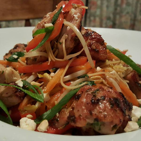 Chilli Chicken with Stir Fry Noodles