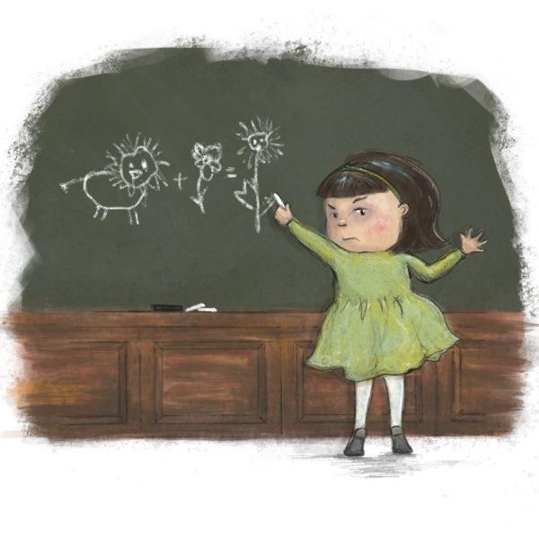 Chalkboard Girl