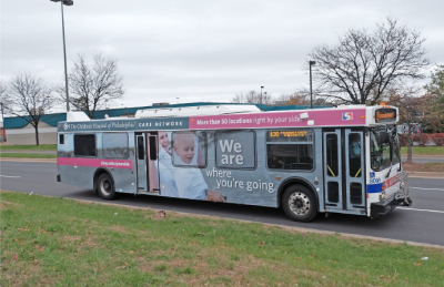 Care Network Campaign bus wraps