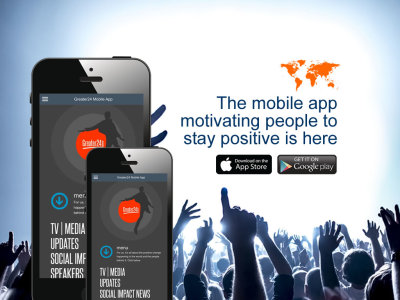 Mobile app for self-improvement training and positive works launches in app stores worldwide