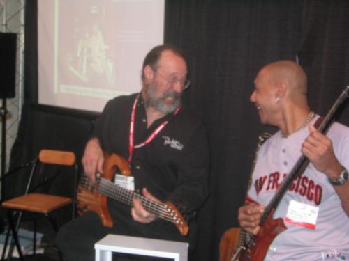 with Ken Parker inventor of the Parker guitar