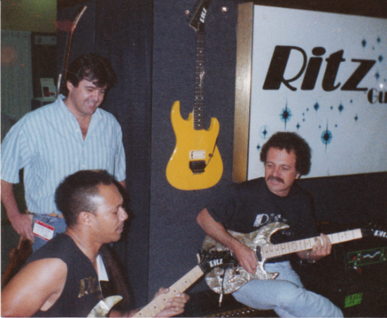 with Cliff Wildes and Wayne Charvel