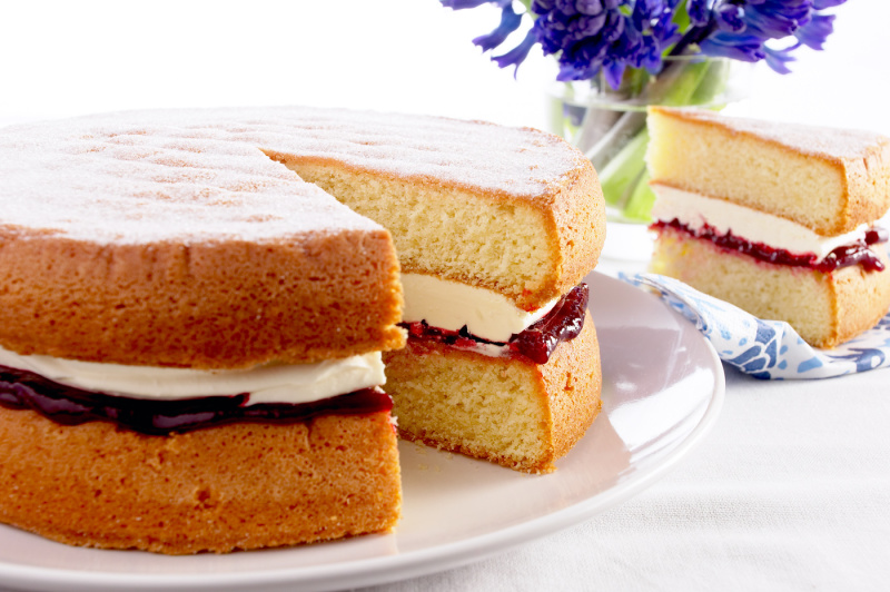 Selection of home baked cakes