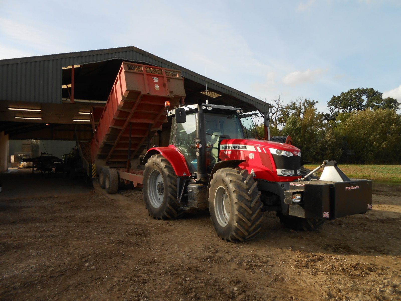 Unloading Potatoes at Farmcare