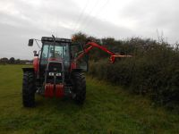 Hedge Cutting with Twose TP525 and Massey ferguson 6150