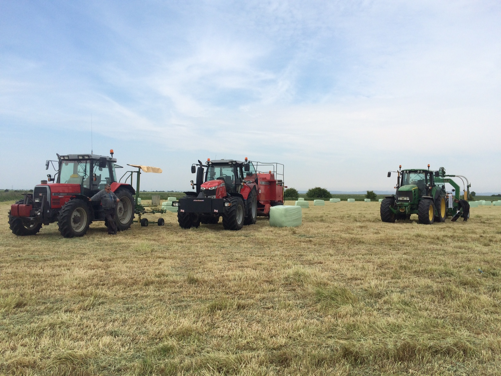 Baling and Wrapping Haylage