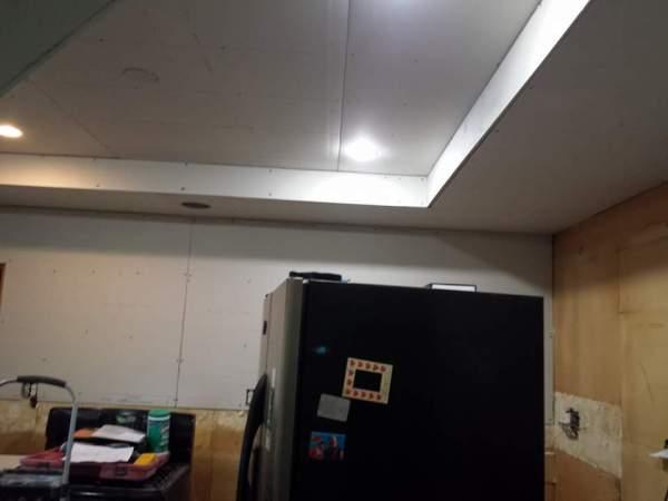 Trey Ceiling Drywalled