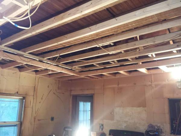 New Trey Ceiling Framed