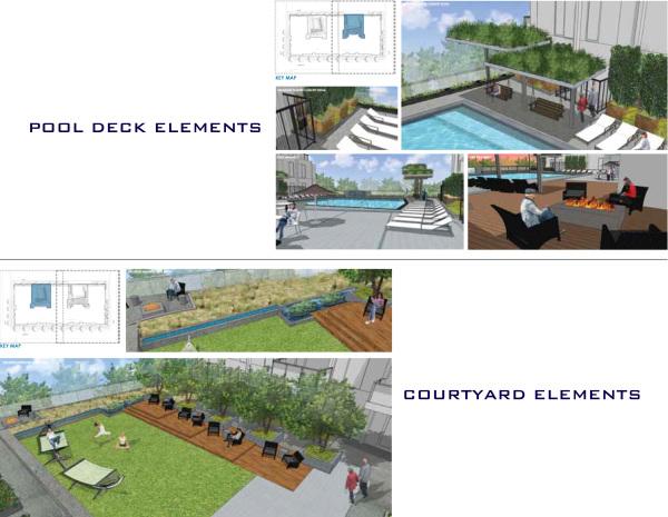 Swimming pool & courtyard