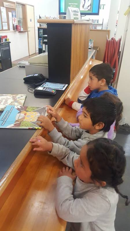 Our first trip to the Library for our 4 year olds. Kia ora to Nanny Rosie and Koka Nancy.