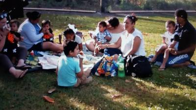 Lots of picnic Kai and waiata at the Xmas party last night!!!