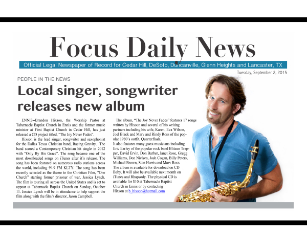 Brandon Hixson Focus Daily News