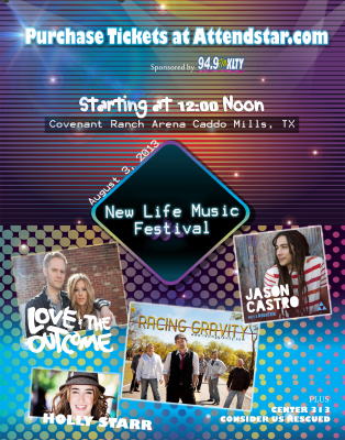 Brandon Hixson with Racing Gravity, Jason Castro, Love And The Outcome New Life Music Festival